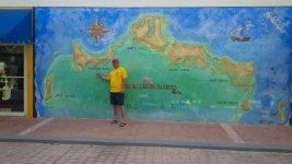 Карта островов на стене магазина в Прово