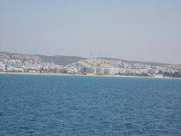 Вид с яхты на Хаммамет