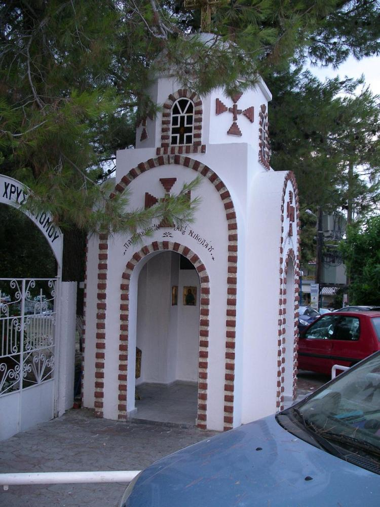 Часовенка в поселке Ханиоти (Халкидики, Кассандра)