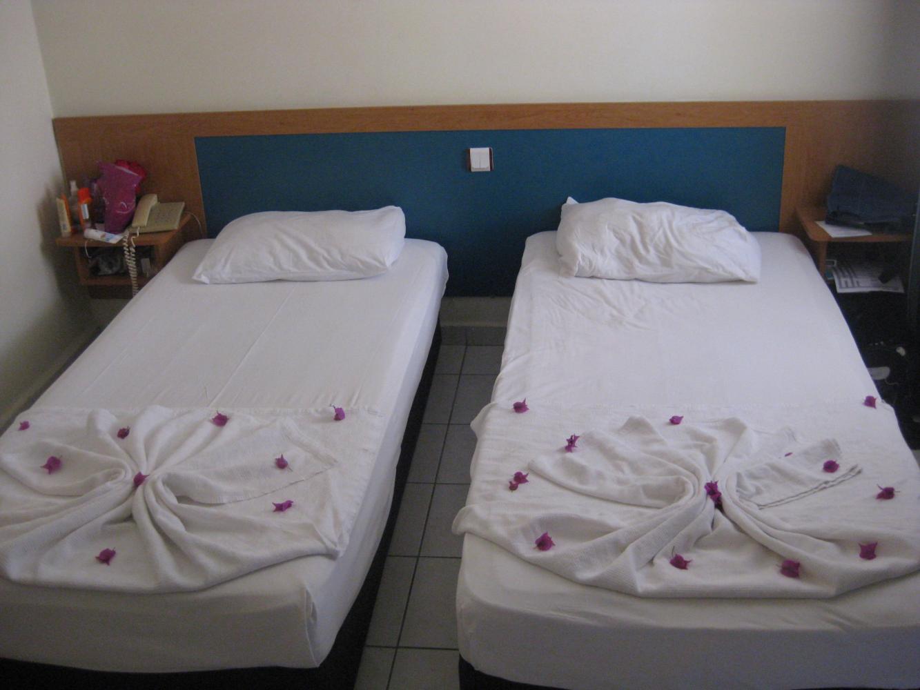 Кровати в двухместном номере