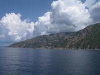 Вид с корабля на полуостров Афон