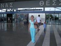 Вид на аэропорт Македония в салониках