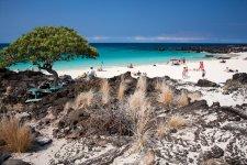 Пляж Kua Bay, один из самых красивых на Гаваях
