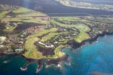 Вид на побережье Большого острова Гаваев с вертолета