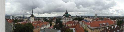 Панорама со смотровый площадки в Вышгороде