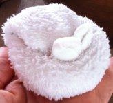 Зайчик из полотенца