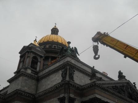 Совершенствование подсветки храма.