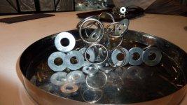 Металлические колечки для абстрактрых скульптур в детском зале