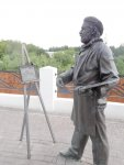 статуя художнику