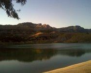 Пресное озеро в горах
