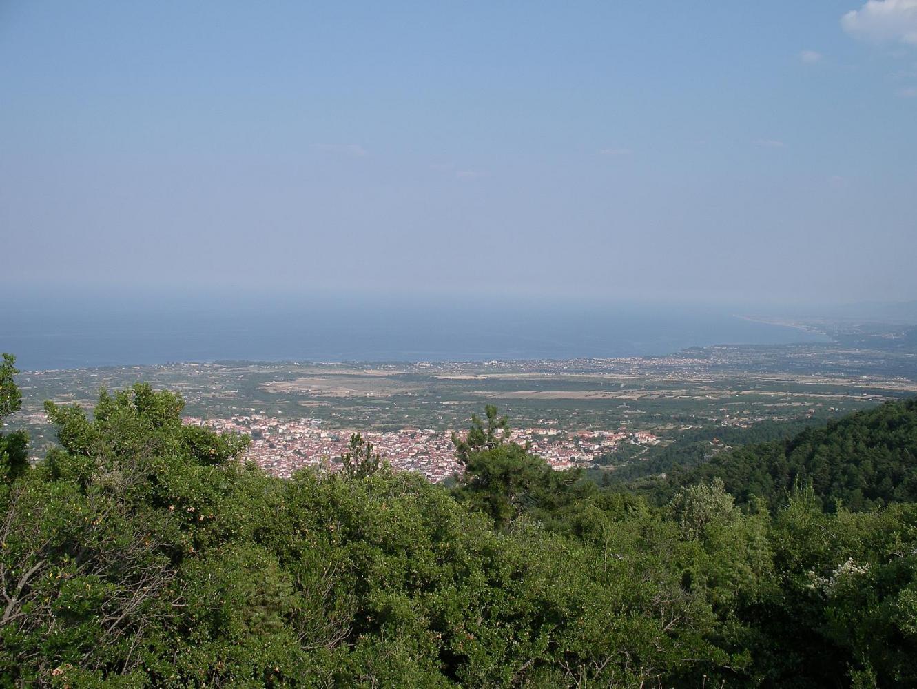 Дион. Вид с горы богов - Олимпа