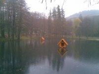 Озеро на территории парка