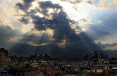 Панорама Катманду из люкса на крыше