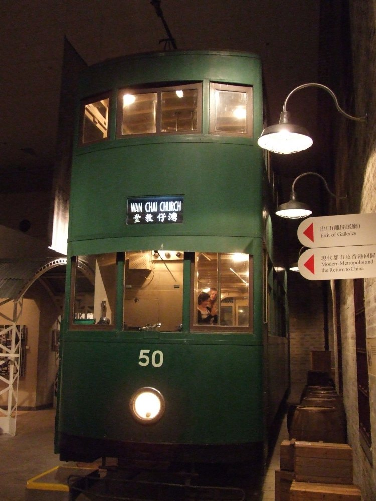 первый гонконгский трамвай - к сожалению, вход разрешен только на первый этаж