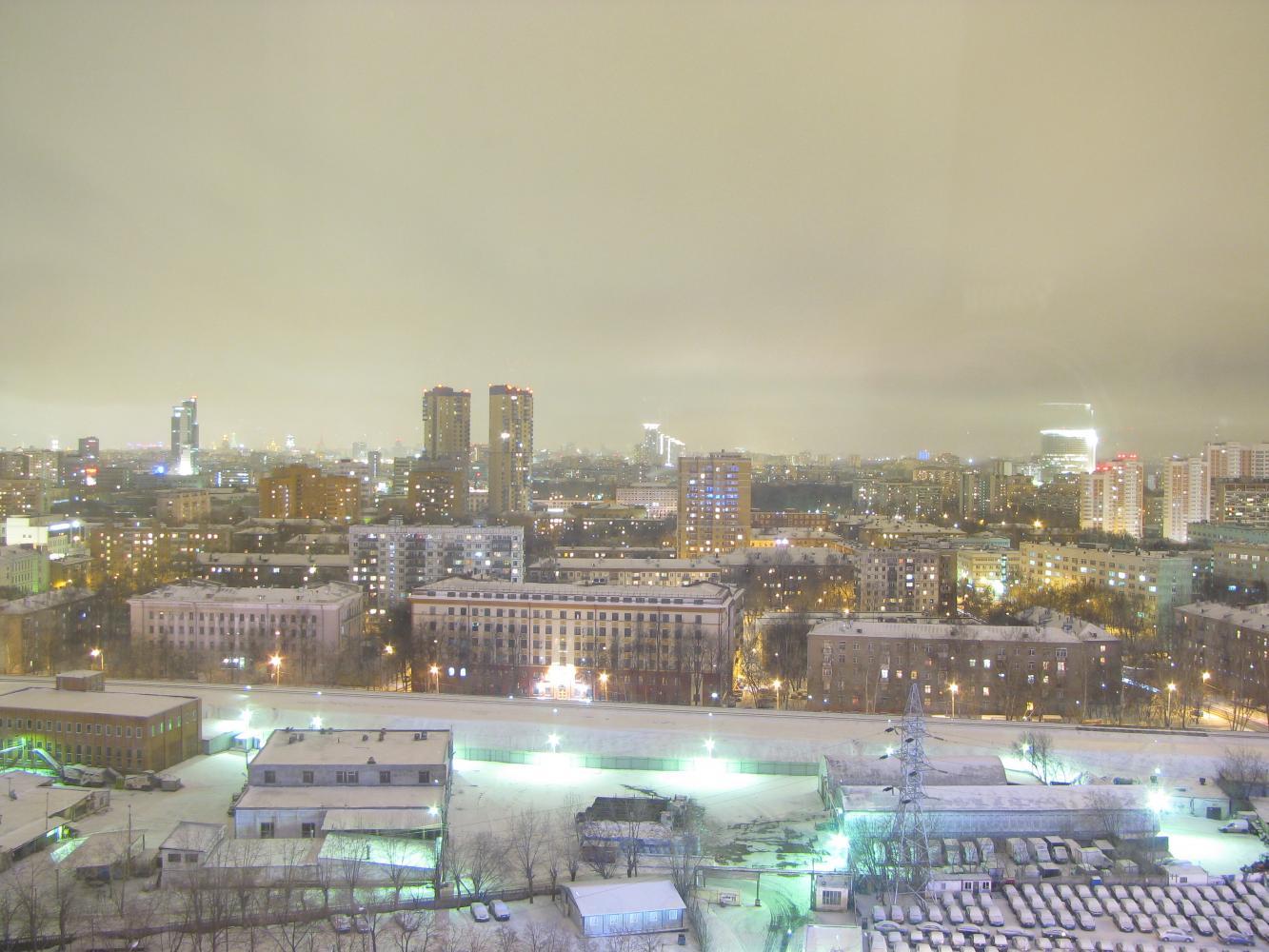 Вид из окна 17 этажа