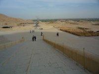 Вид с террасы храма на город Живых за Нилом