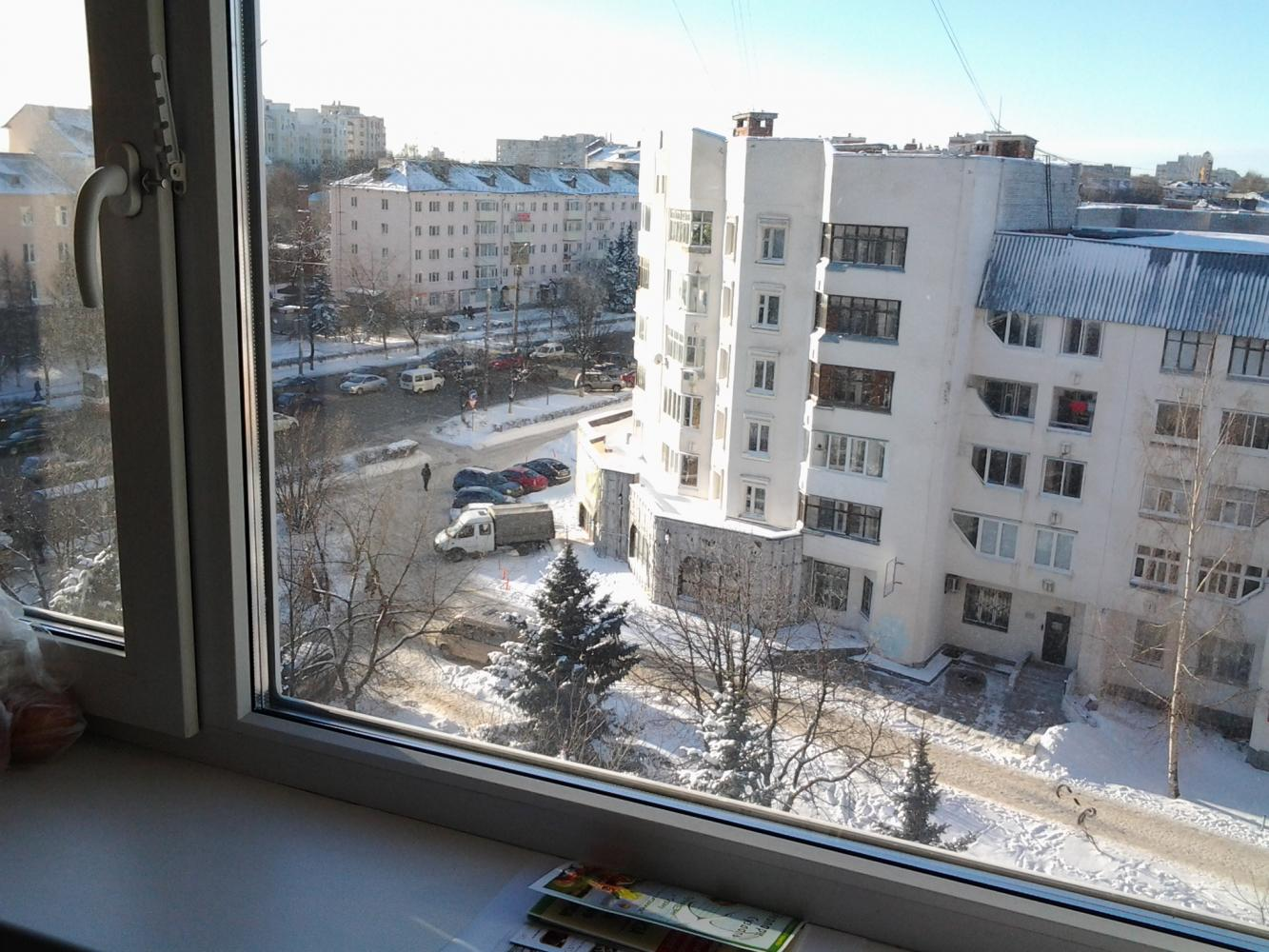 Вид из окна днем