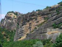 Горы, на которых расположены христианские храмы. Метеора