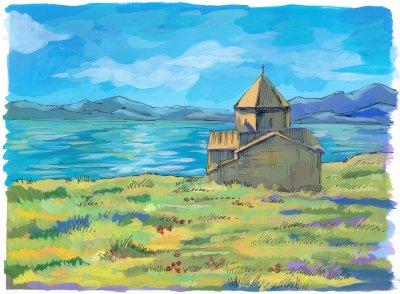 Озеро Севан. Работа Агнес Авагян