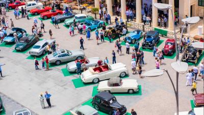 Выставка ретро-автомобилей в Валлетте