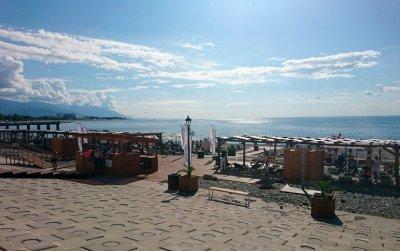 Пляж «Розы Хутор». Фото пресс-службы курорта