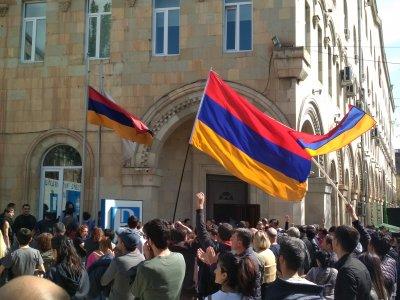 Протесты в Армении 16 апреля 2018г. Wikimedia Commons. Автор Ավետիսյան91