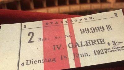 Архивный билет в Венскую оперу