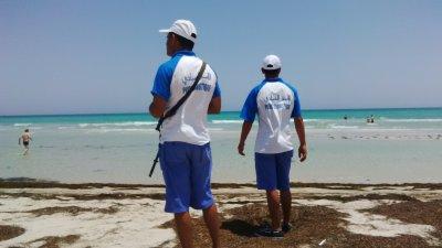 Police touristique охраняют пляж