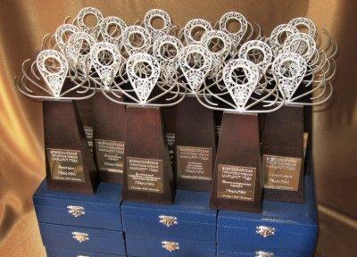 Гран-при премии «Маршрут года» 2018. Работа выполнена в технике казаковской филиграни. Фото пресс-службы мероприятия