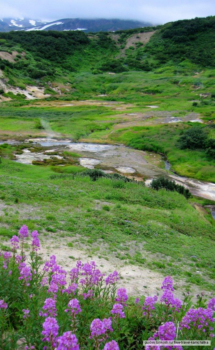 Камчатка. Дачные источники (Малая долина гейзеров)