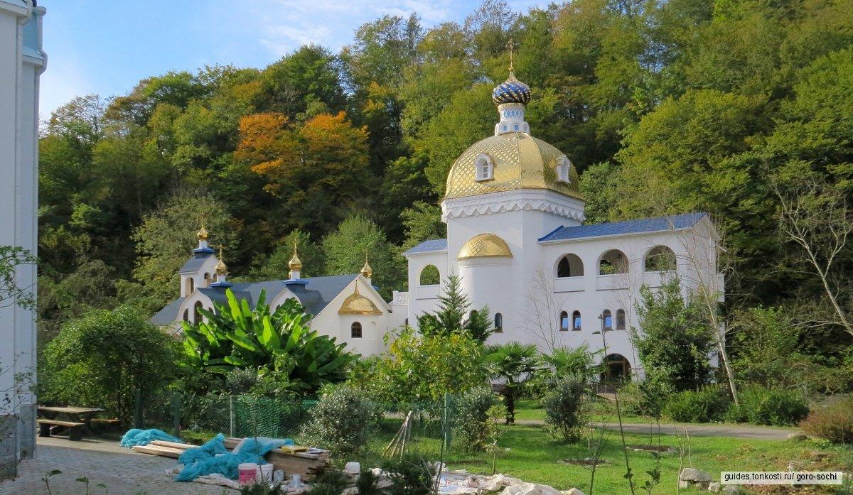 Скайпарк,Ахштырская пещера,Троице-Георгивский женский монастырь,Форелька
