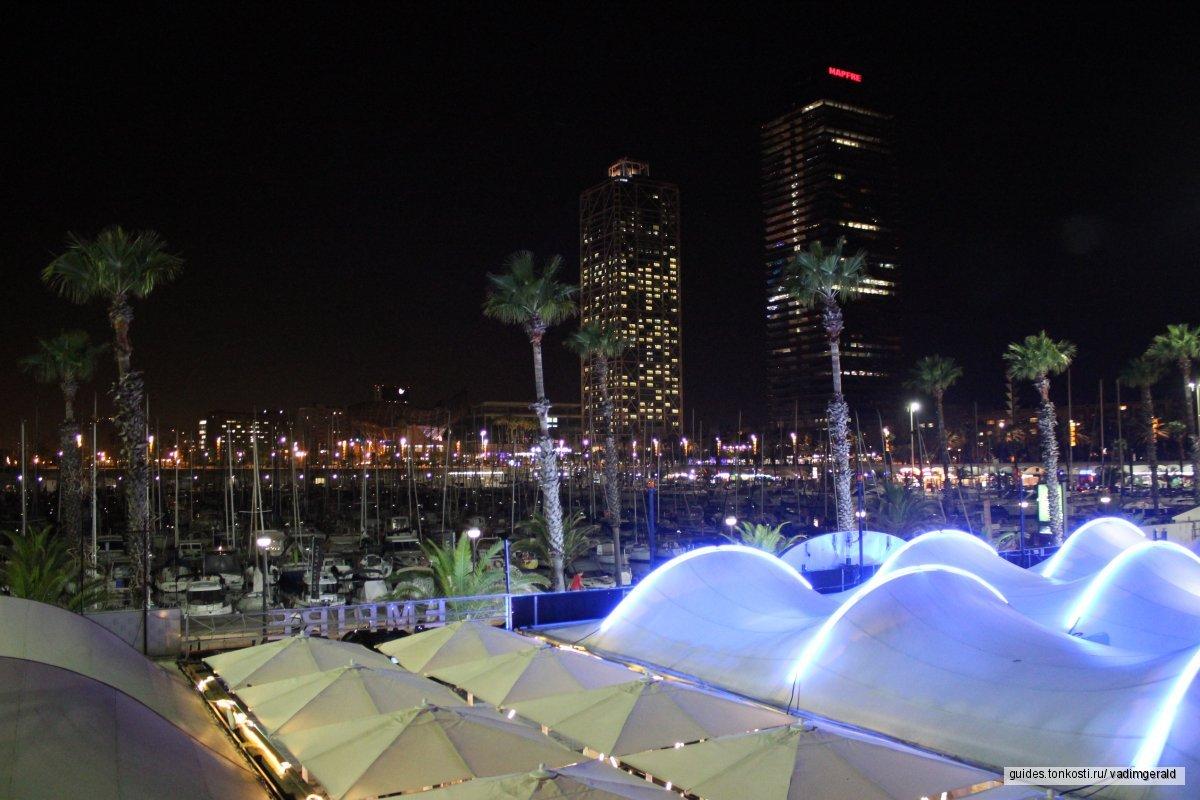 Город в вечерних огнях. Ночная Барселона. Фотоэкскурсия