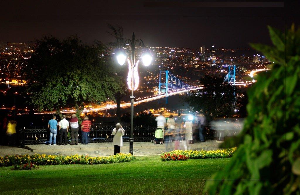 Прогулка по вечернему Стамбулу на машине