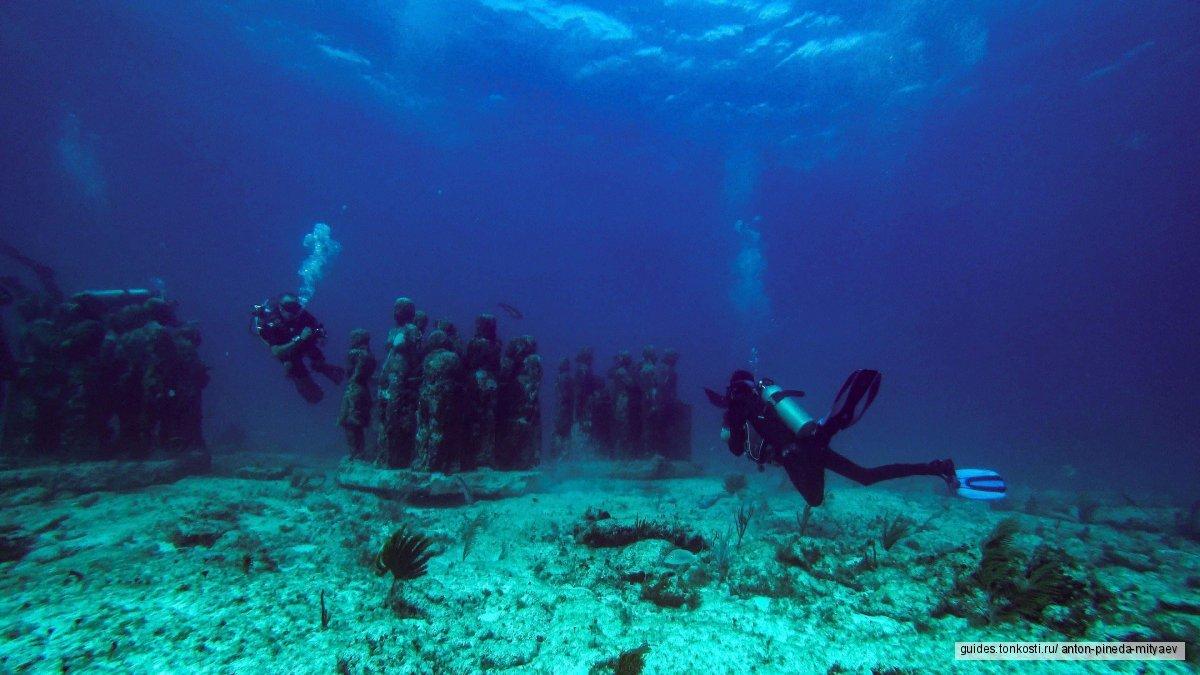 Дайвинг в Канкуне. Пробное погружение в подводном музее или на рифе Читалес