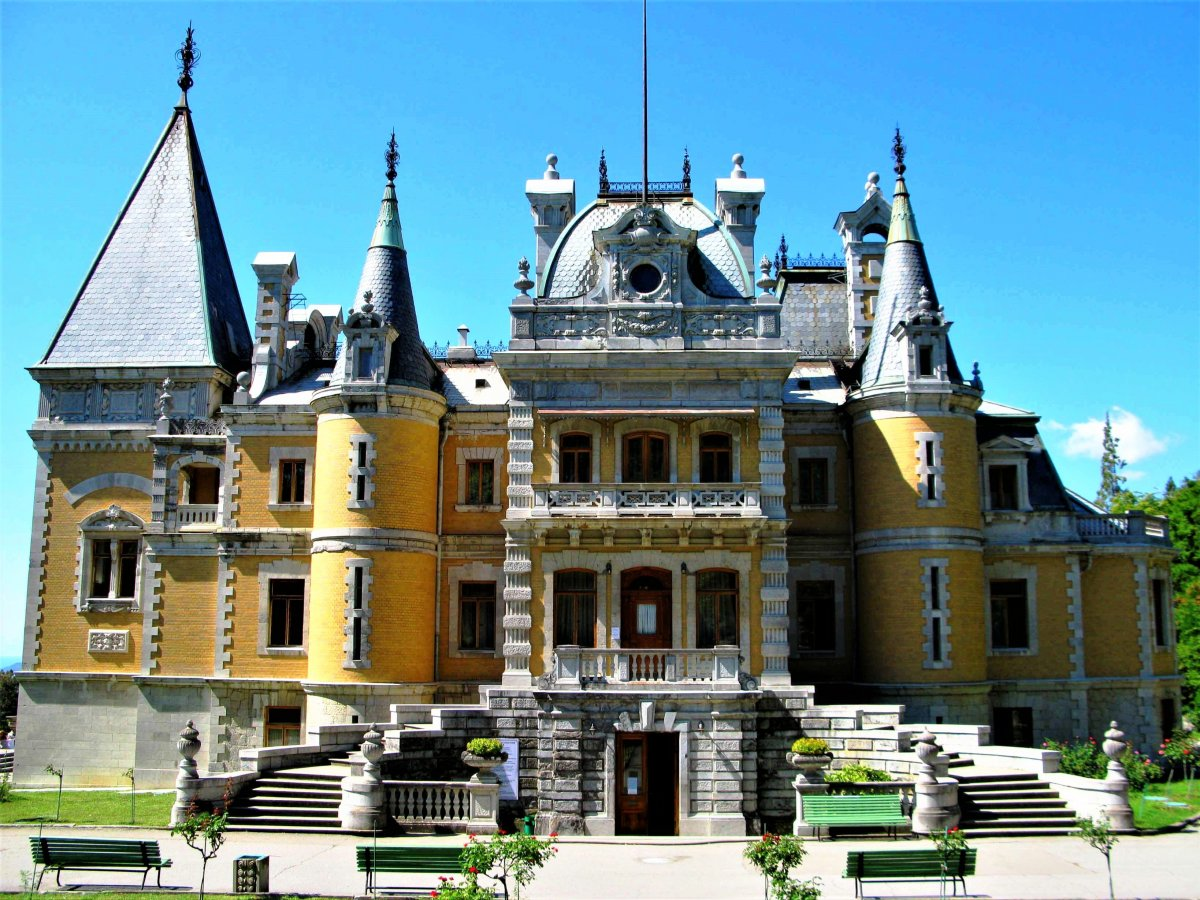 Дворцы и парки Романовских имений Южного берега Крыма (Ялта)