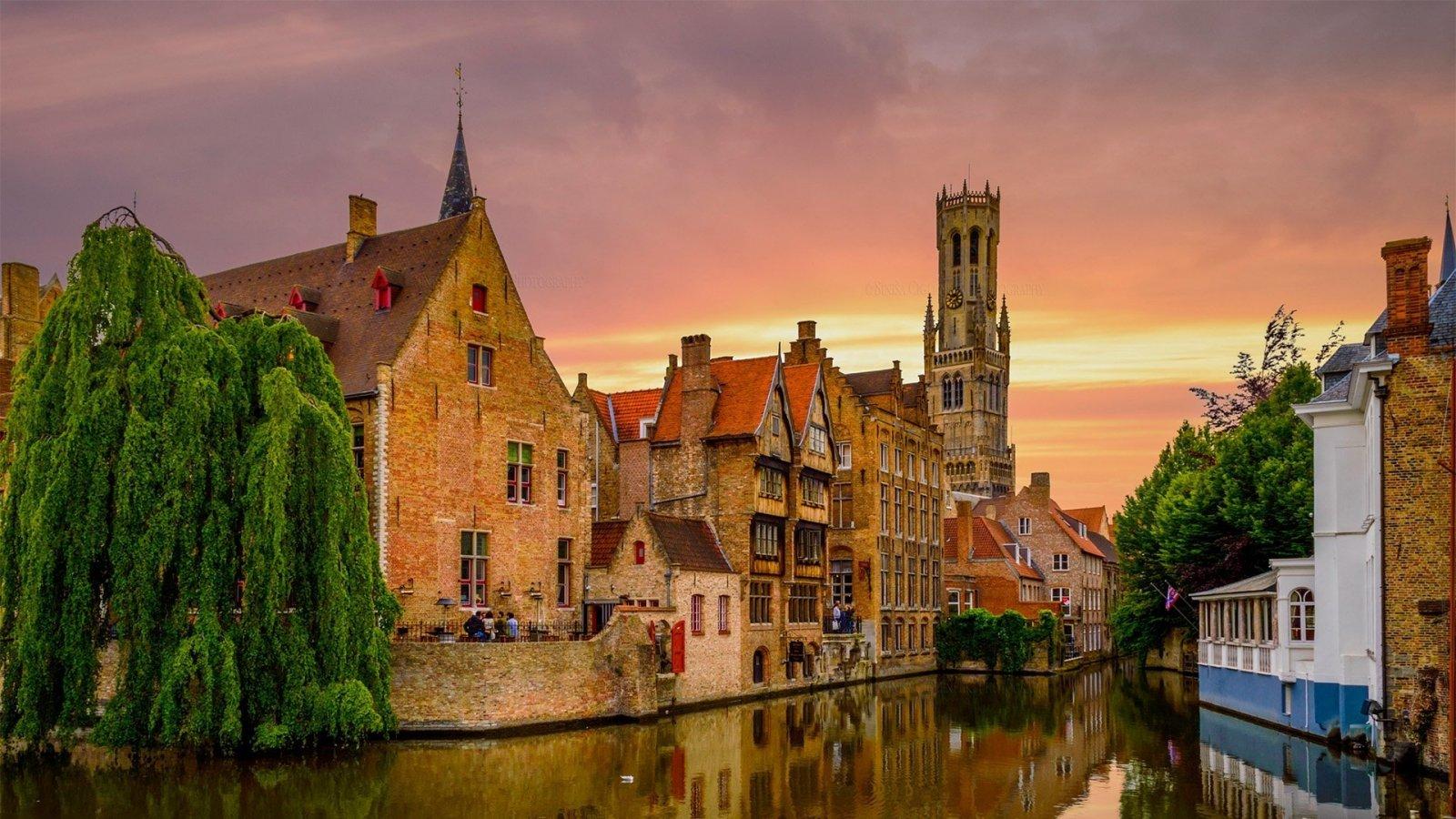 Средневековый Брюгге — город фламандской школы искусства Антверпен
