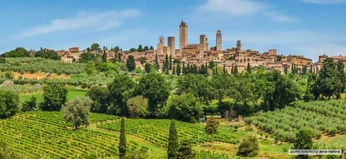 По следам программы «Их Италия»: винодельня Гуиччардини-Строцци и Сан-Джиминьяно