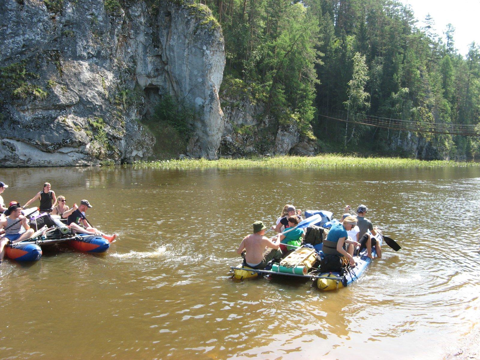 Водные туры на катамаранах по р.Серге. Оленьи Ручьи, Свердловская область