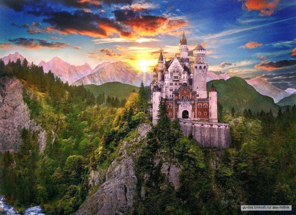 Замок Нойшванштайн, дворец Линдерхоф и деревушку Обераммергау