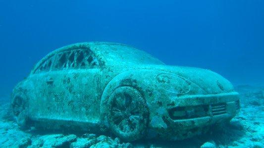 Музей подводных скульптур, пробное погружение из Канкуна