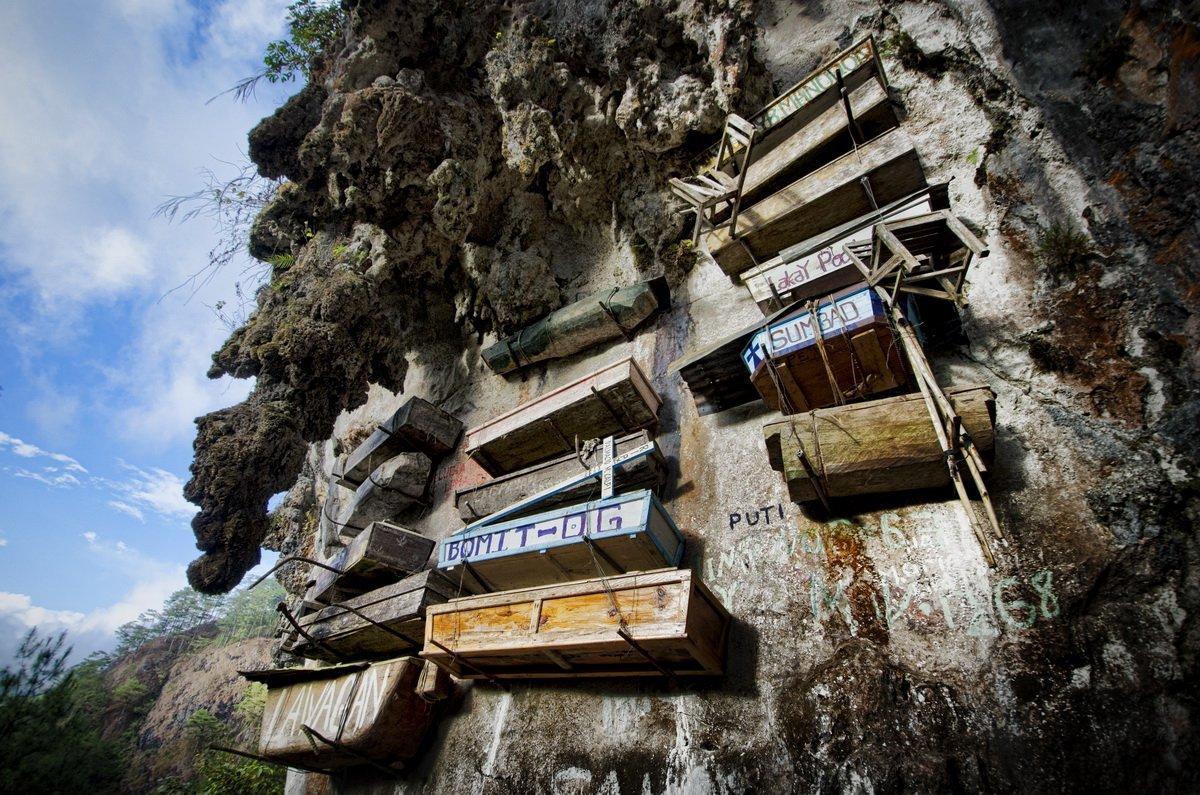 Висящие гробы Сагады, рисовые террасы, водопад, рассвет на пике, пещера и клубничная ферма Багио
