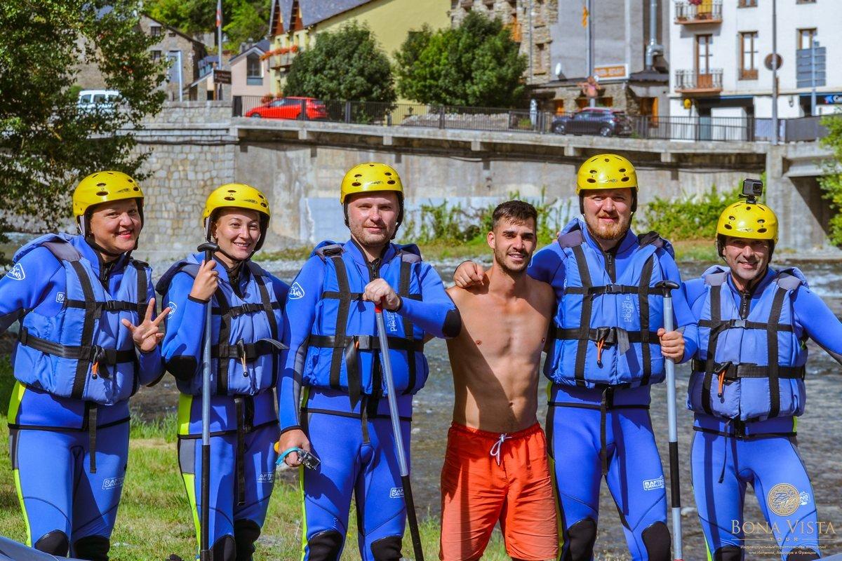 Рафтинг по горной реке в Каталонии