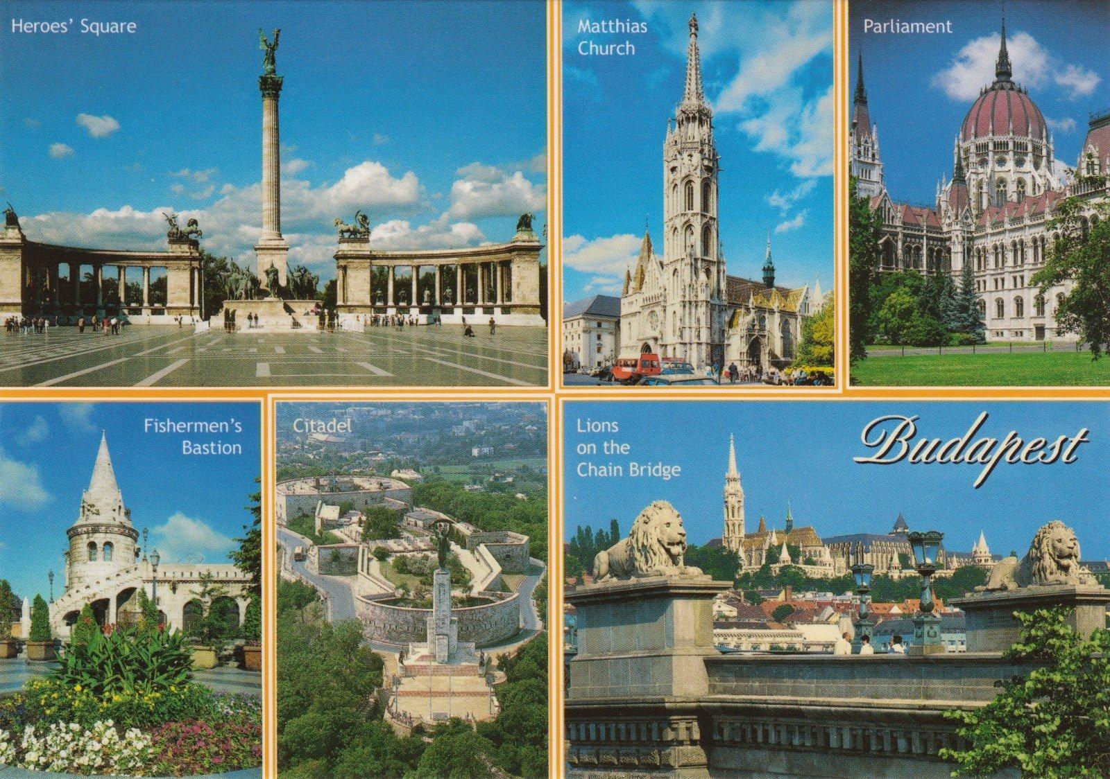 Будапешт открытки, открытка коллеге марта