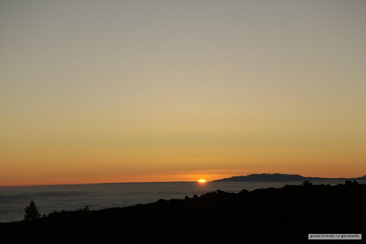 Закат и ночная экскурсия на вулкан Тейде