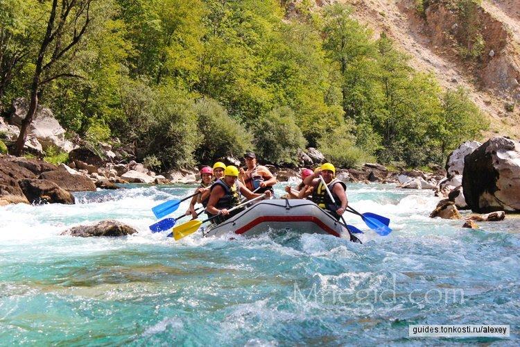 Рафтинг по реке Таре