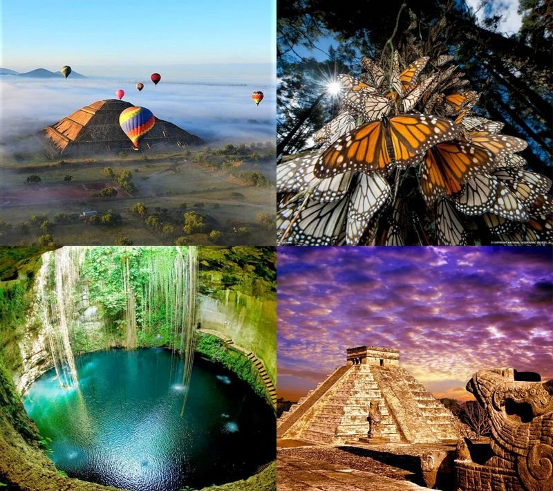 Миграция бабочек, города древних цивилизаций и природные заповедники