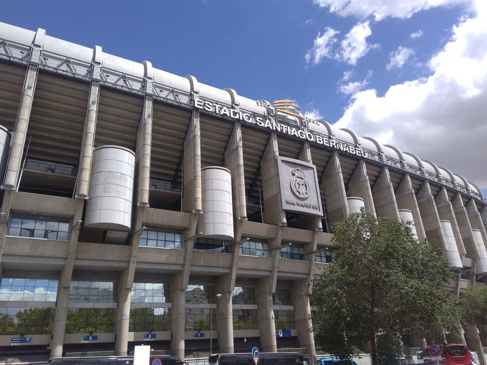 Стадион Сантьяго Бернабеу футбольного клуба Реал Мадрид.