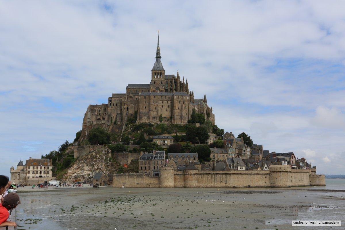 Выездная экскурсия из Парижа: Мон-Сен-Мишель. Гранитный остров. Чудо-замок