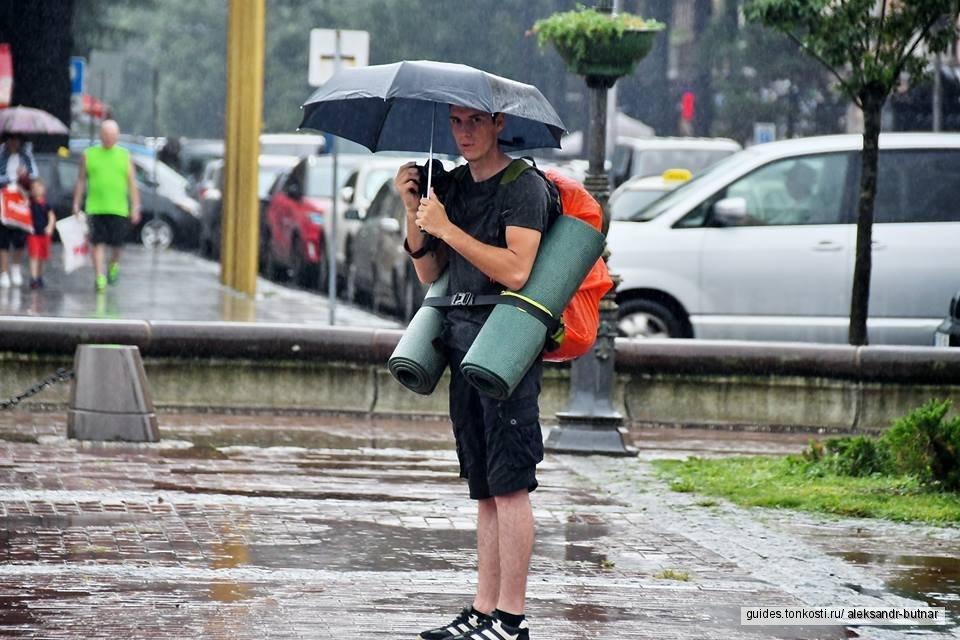 Батуми в дождливый день