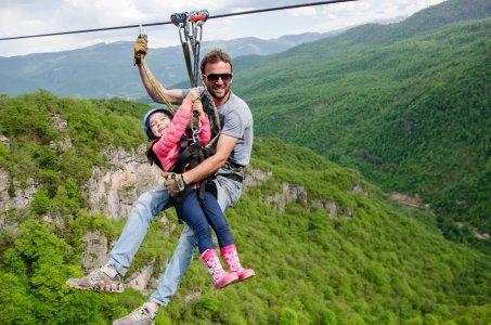 По горам севера Армении на зиплайнах
